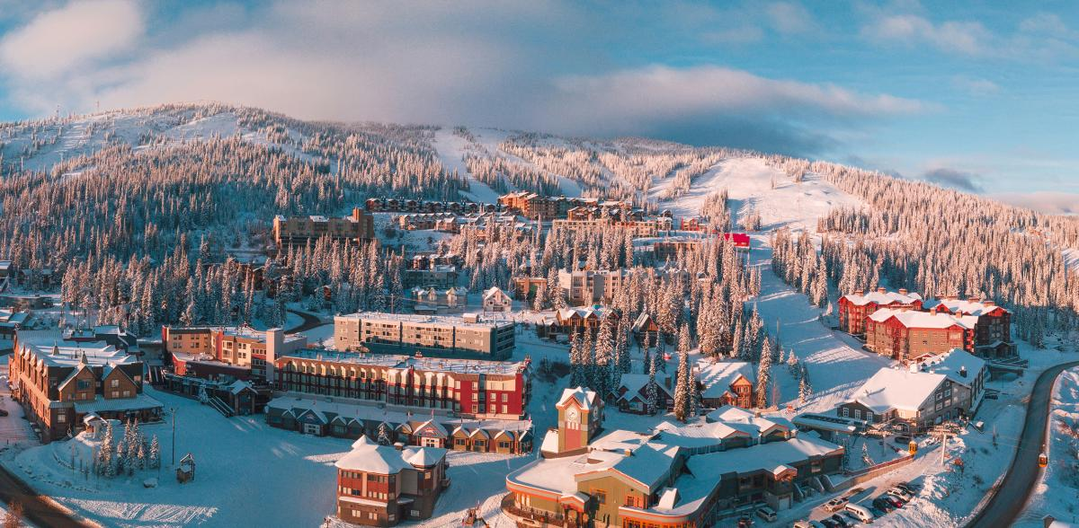Big White Ski Resort Aerial