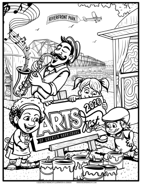 Artsfest 2020 Coloring Page