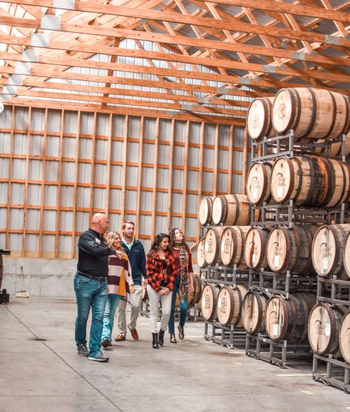 Man giving a tour at Starlight Distillery