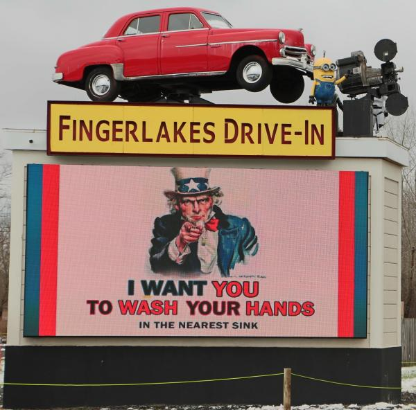 Finger Lakes Drive-In - Wash your Hands