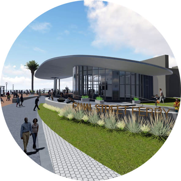 Canal Ferry Terminal Rendering
