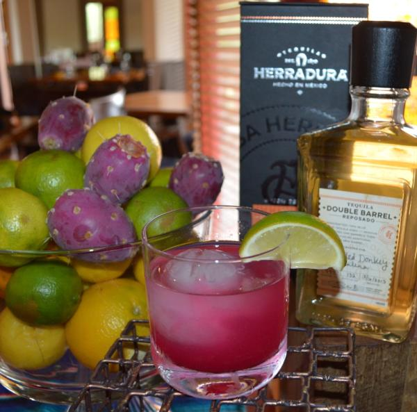 Prickly Pear Margarita at Spotted Donkey at The Boulders