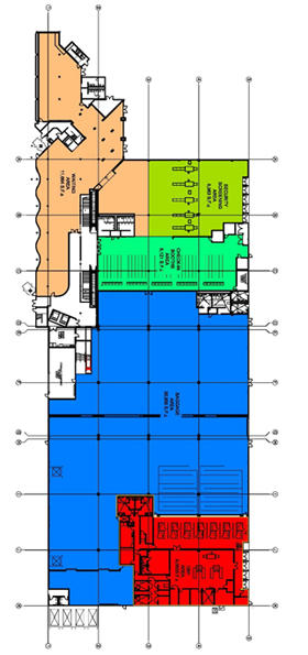 Map of Cruise Terminal 2 first floor layout