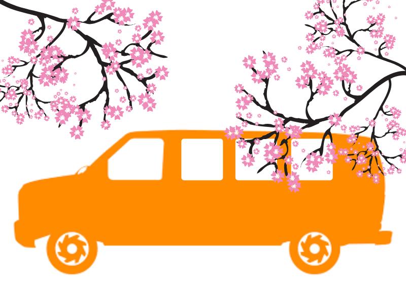 Cherry Blossom Van