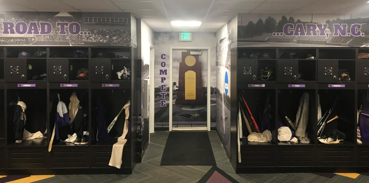 University of Montevallo Baseball Locker Room