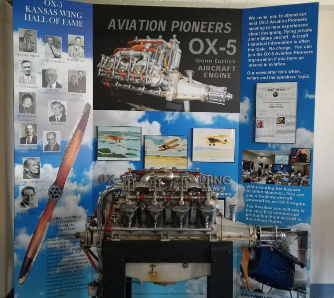 Kansas Aviation Museum OX-5 Display