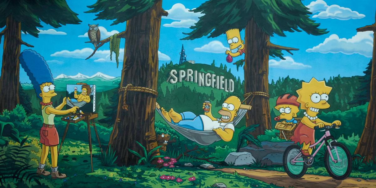 Simpsons Mural by Thomas Moser