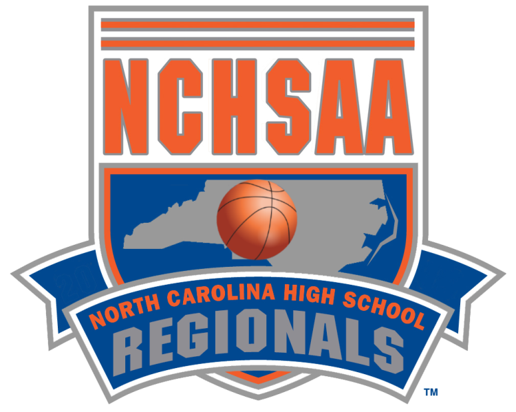 NCHSAA Western Regional Basketball Logo