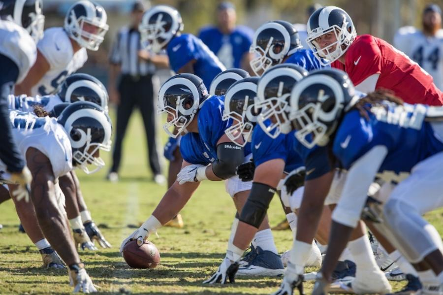 LA Rams training camp at UCI
