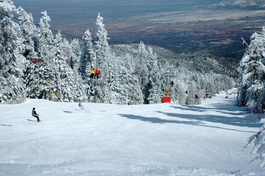 Skiing Sandia Peak Ski Area