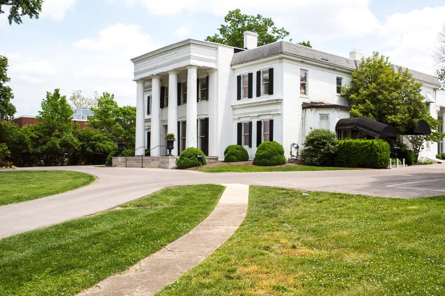 Carrick House is a white mansion that is used for special events in Lexington.