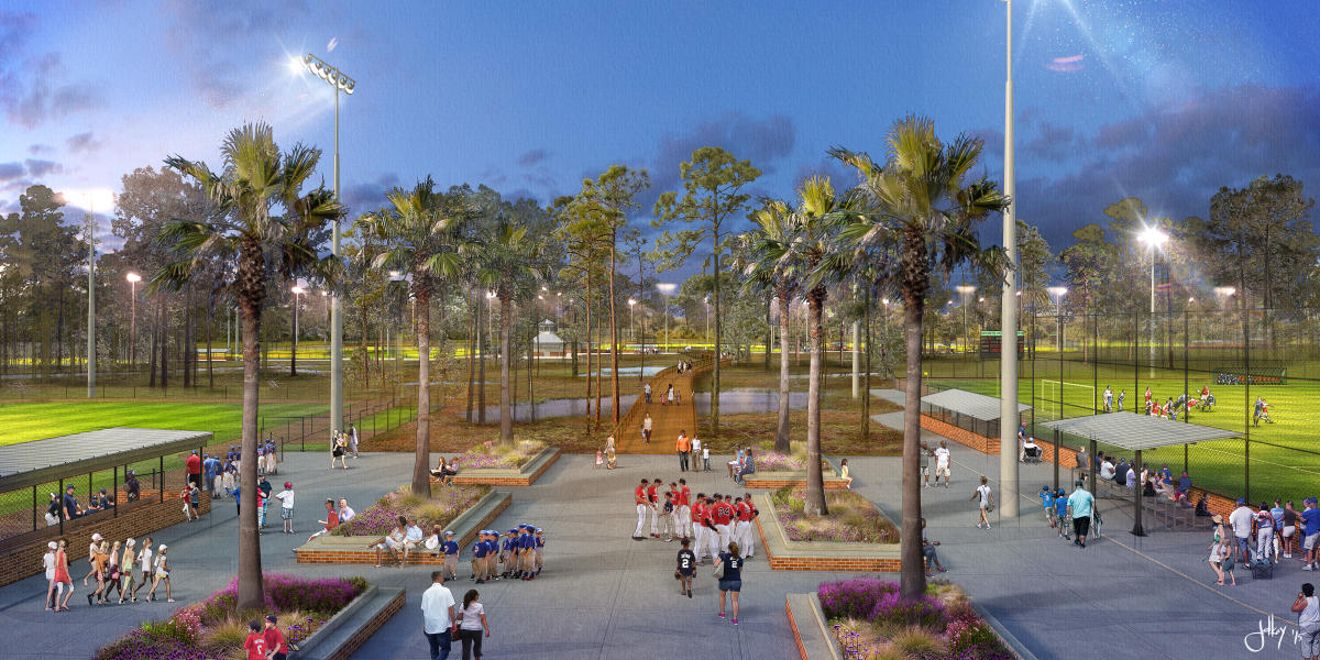 sports complex rendering Panama City Beach Florida