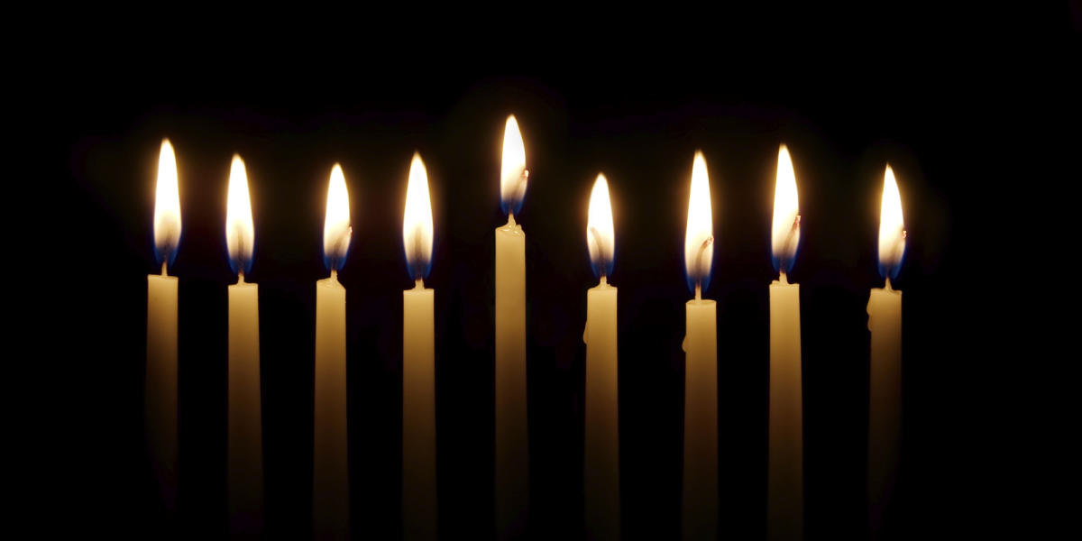 candles - hanukkah - chanukah - menorah