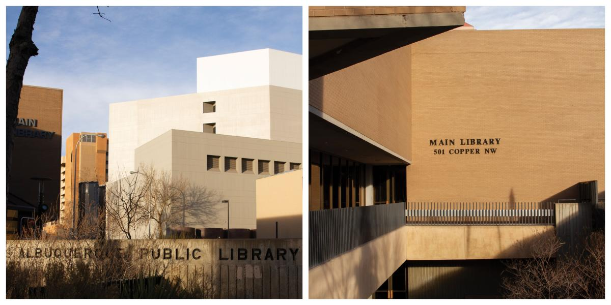 Albuquerque's Main Library Building located downtown.