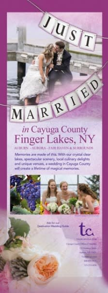 Just Married in Cayuga brouchure