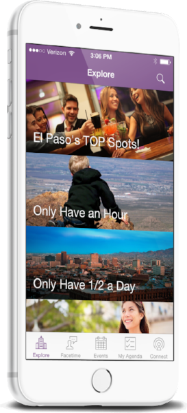 El Paso mobile app home screen