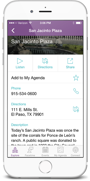 El Paso App Launch - Explore section