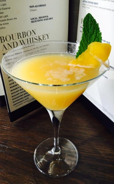 Peach Whiskey Smash Cocktail from The Boulders