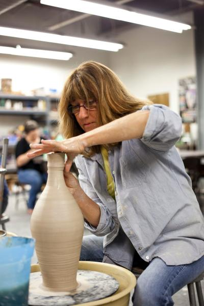 Learn to mold, create pottery and run the potters wheel at CityArts in Wichita KS