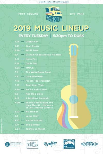 FoCo Food Truck Rally Music Lineup 2019