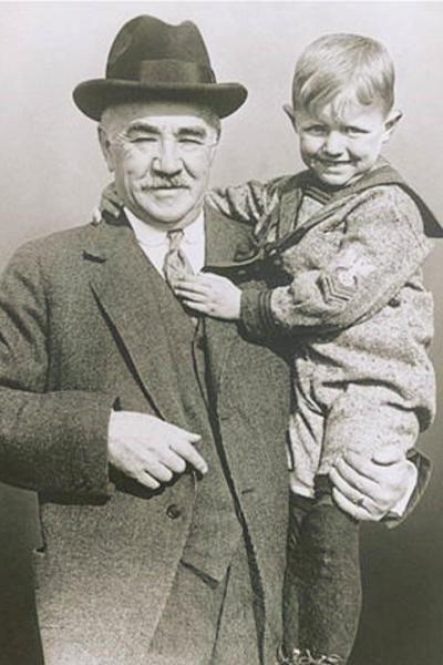 Milton Hershey with boy