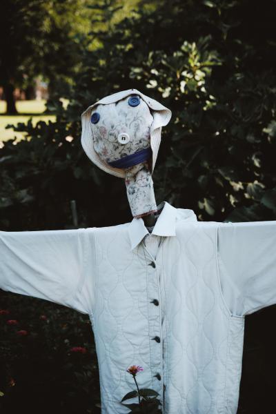 Davidson Community garden scarecrow