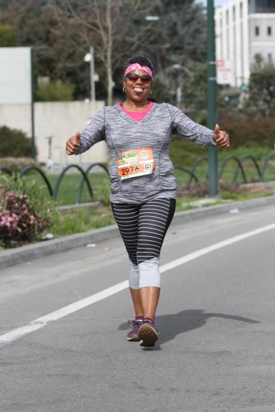 Oakland Running Festival runner