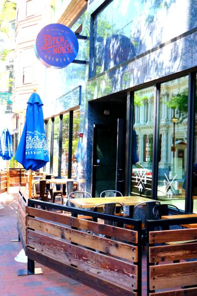 Outdoor Dining at Stitch House Brewery, Market Street, Wilmington, Delaware