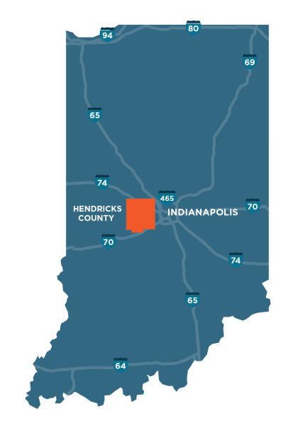 Hendricks County, Indiana Map