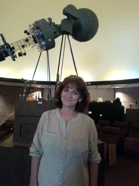 Sharon Rigsby at the Murray J. Frank Planetarium in Beaumont, TX.