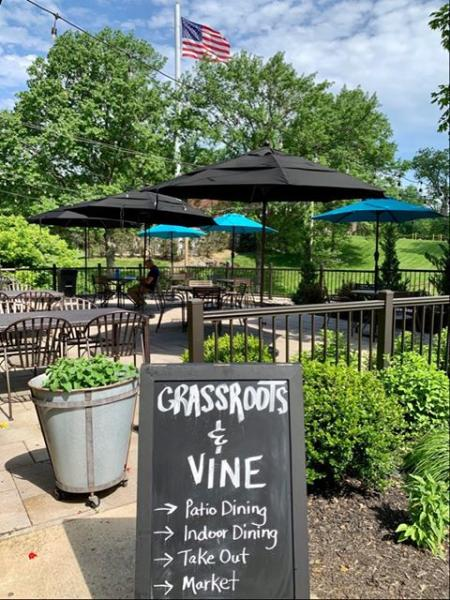 grassroots and vine patio