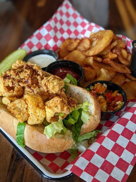 libbys southern comfort special of the day calamari poboy sandwich