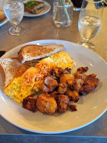 repertoire florence kentucky king crab omlette and fried potatoes