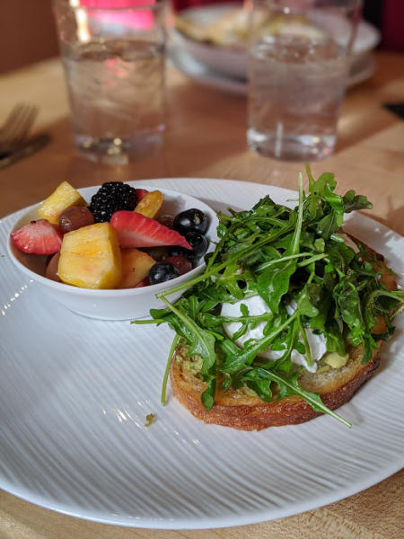 photo of avocado toast at the kitchen by butler's pantry in covington kentucky near the northern kentucky convention center