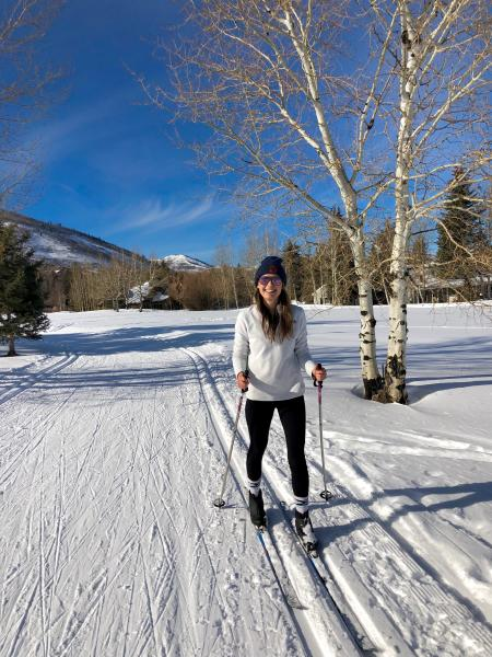 Writer Locke Hughes on nordic skis