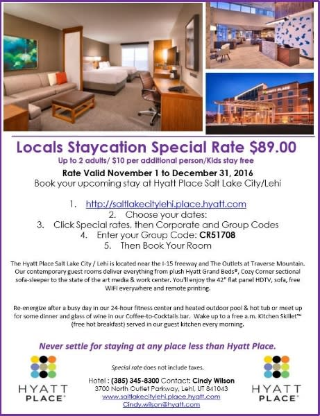 Hyatt Staycation 2016