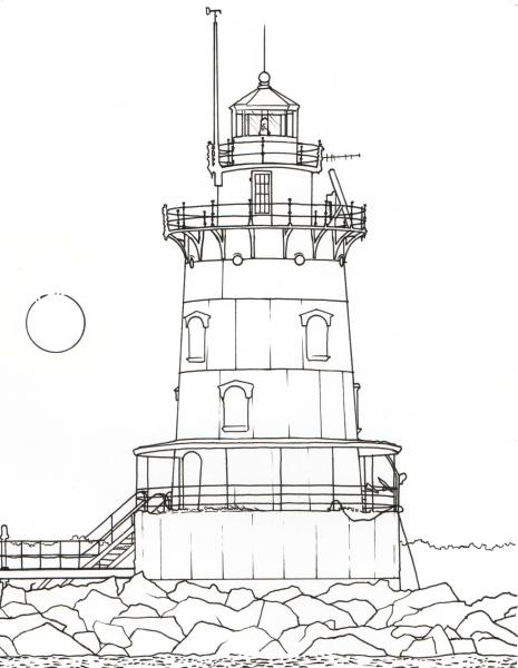 Providence coloring page - Conimicut Lighthouse