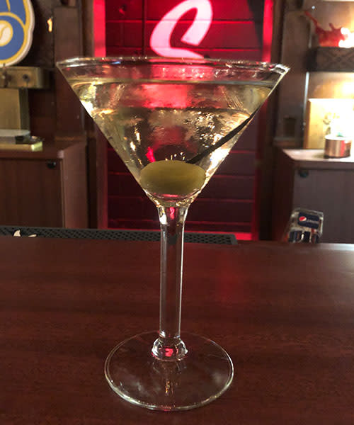A signature martini at Smoky's Club