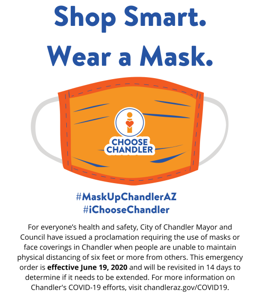 #MaskUpChandlerAZ - Shop Safe. Shop Smart. Wear a Mask.