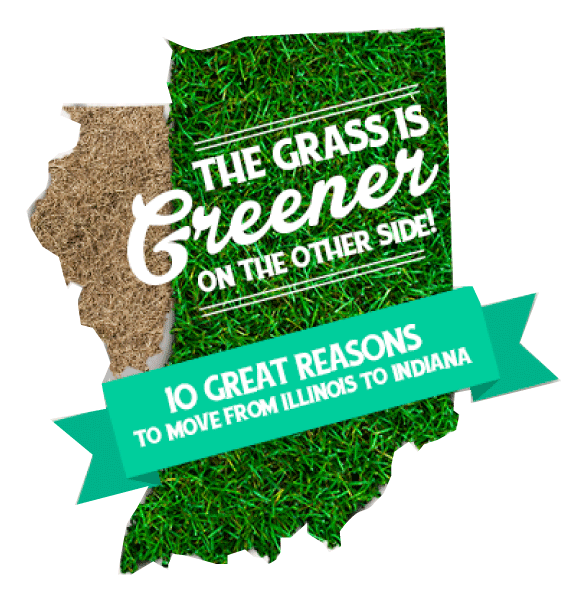 The grass is green in Indiana than Illinois - reasons to move to Indiana image