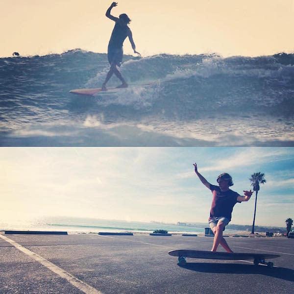 Ham board surfing