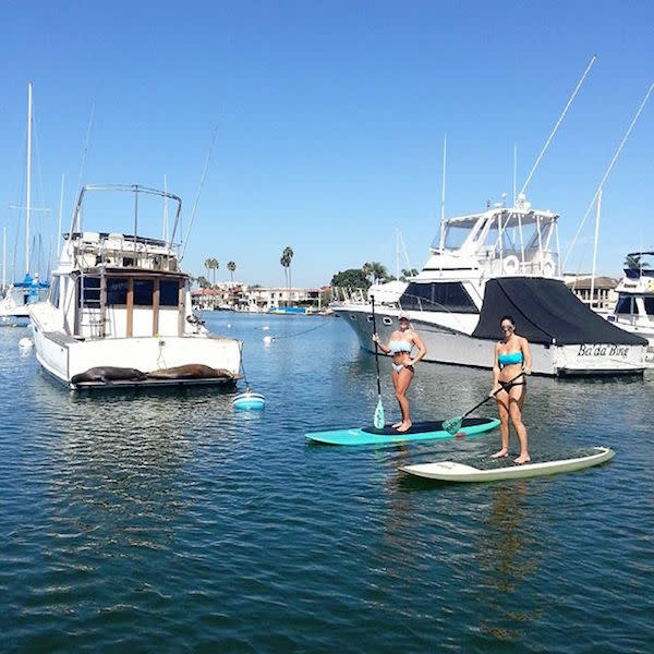 SUP in Huntington Harbour