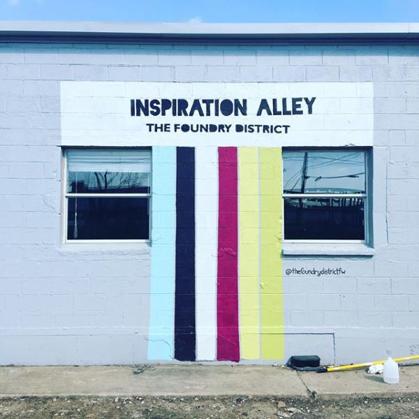 The Foundry District's Inspiration Alley.