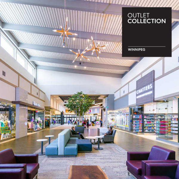 Outlet Collection Winnipeg interior with shops