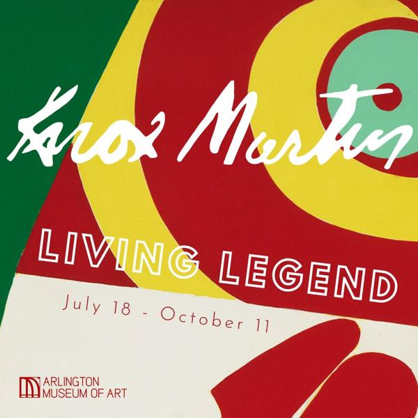 Bright block colors and text with Knox Martin: Living Legend at Arlington Museum of Art July 18-October 11