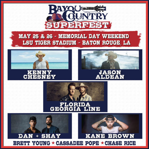 Bayou Country 2019 Lineup