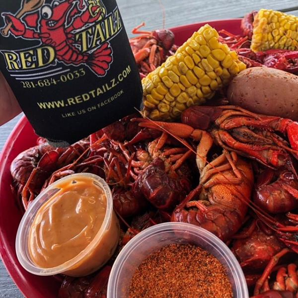 Located in Fannett, Red Tailz serves up seasoned crawfish and all the fixins'.