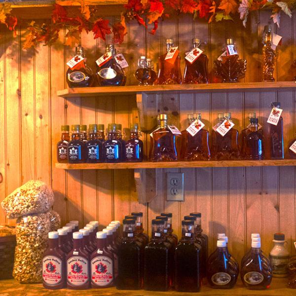 Shopping at Smokey Hollow Maple Syrup