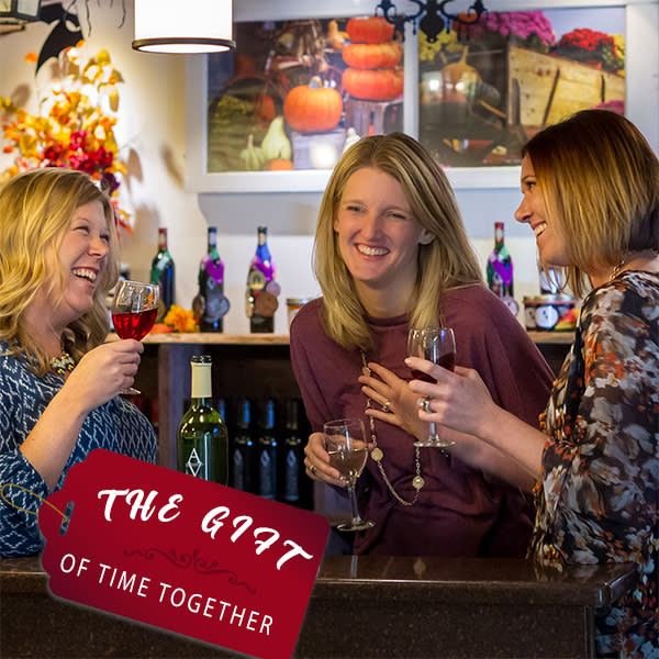 Enjoy wine with friends over the holiday season.
