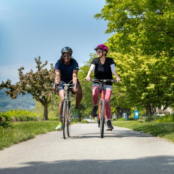 Biking on the greenbelt